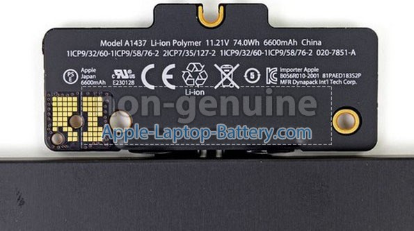 Battery for Apple A1425(EMC 2557) laptop