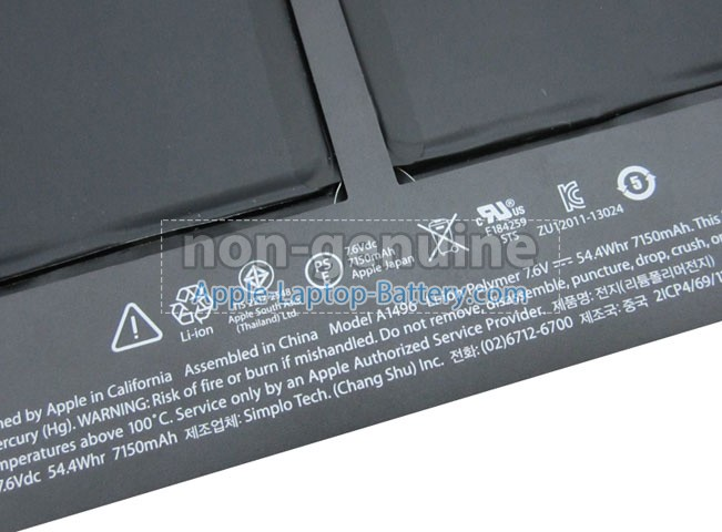 Battery for Apple A1466(EMC 2925) laptop