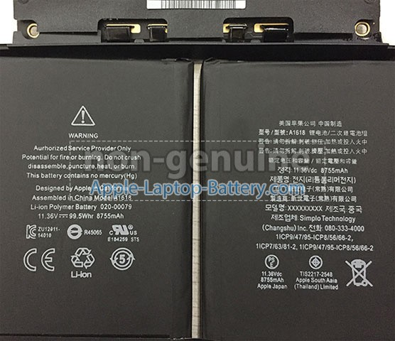 Battery for Apple MacBook Pro 15.4 inch Retina MJLT2LL/A laptop